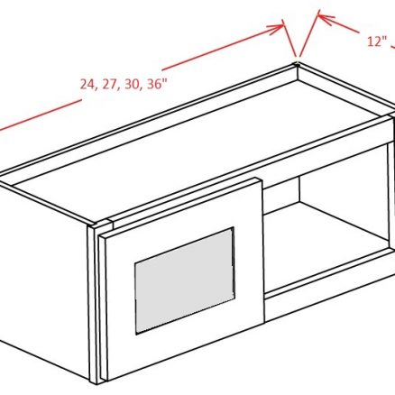 YW-W2412GD - Double Door Stacker Wall Cabinet