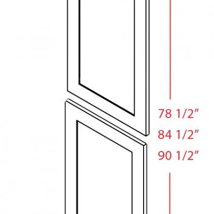 SG-TDEP2490 - Panel-Tall Decorative End 24 X 90 - 23.5 inch
