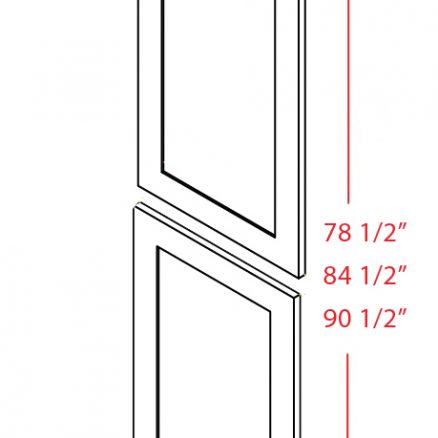 TDEP2496 Tall Decorative End Panel 24 inch by 96 inch Shaker White
