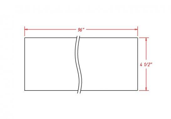SW-TKC - Molding-Toe Kick - 96 inch
