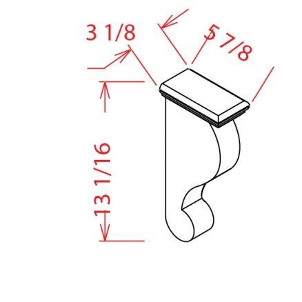 CS-CBT - CORBEL TRADITIONAL - 3.12 inch