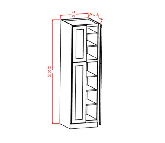 CS-U309624 - Utility Cabinets With Four Doors - 30 inch