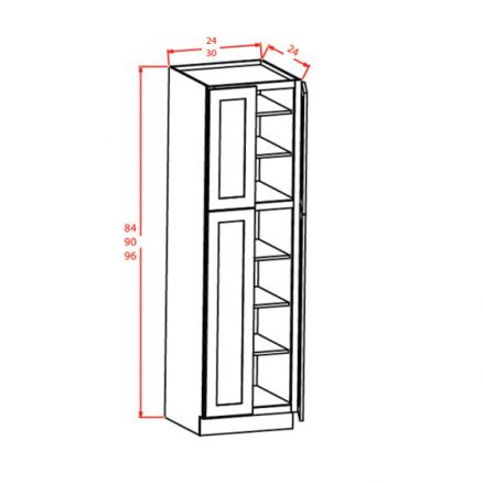 YC-U309024 - Utility Cabinets With Four Doors - 30 inch