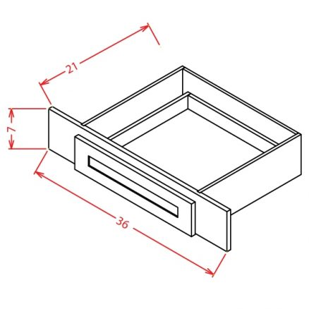 TW-VKD36 - Vanity Knee Drawer - 36 inch