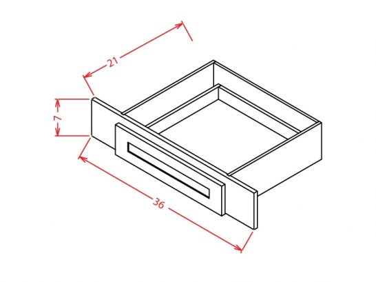 SD-VKD36 - Vanity Knee Drawer - 36 inch