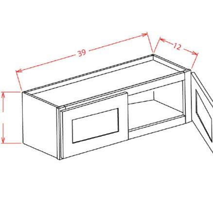 """SMW-W3924 - 39"""" Bridge Cabinet - 33 inch"""