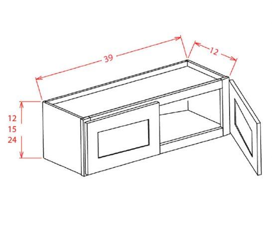 """SMW-W3915 - 39"""" Bridge Cabinet - 30 inch"""