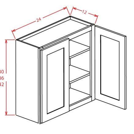 """CS-W2430GD - 30"""" High Wall Cabinet-Double Door  - 24 inch"""