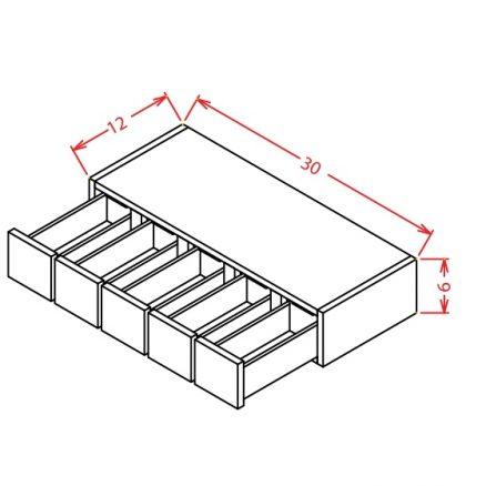 WSD630 Wall Spice Drawer Cabinet Shaker Dusk