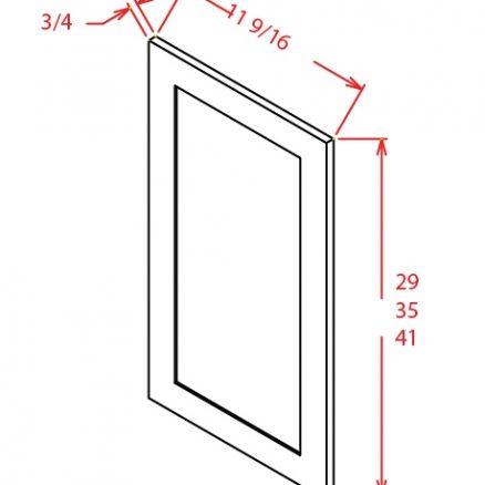 SA-WDEP36 - Panel-Wall Decorative End Panel 36 High - 11.5 inch