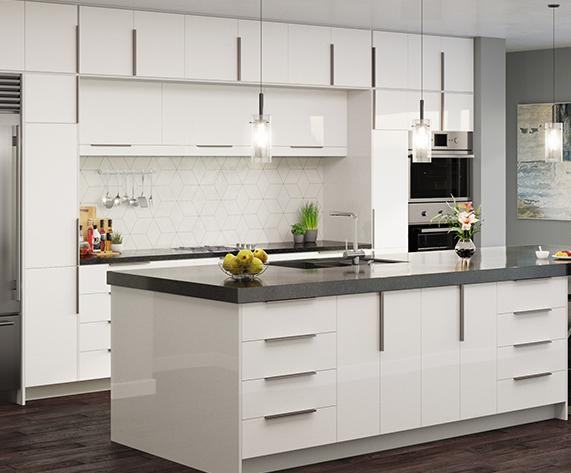 white shaker cabinet